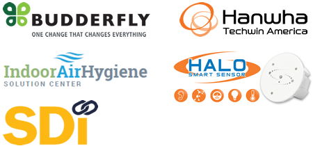 Budderfly, Hanwha Techwin America, Indoor Air Hygiene, HALO Smart Sensor, SDI